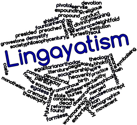 promulgated: Abstract word cloud for Lingayatism with related tags and terms