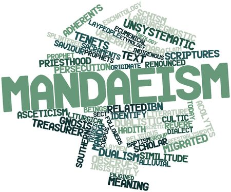 treasurer: Abstract word cloud for Mandaeism with related tags and terms