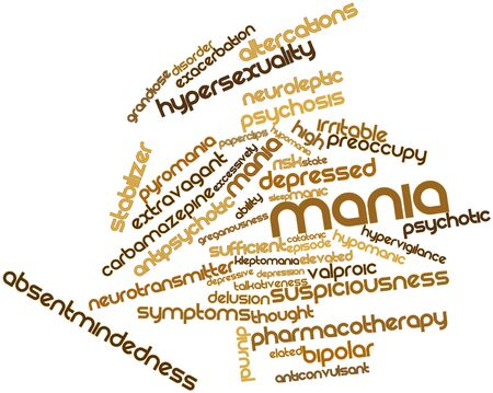 Abstract word cloud for Mania with related tags and terms