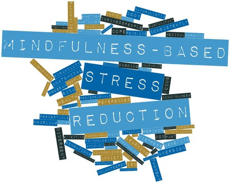 reduction: Abstract word cloud for Mindfulness-based stress reduction with related tags and terms