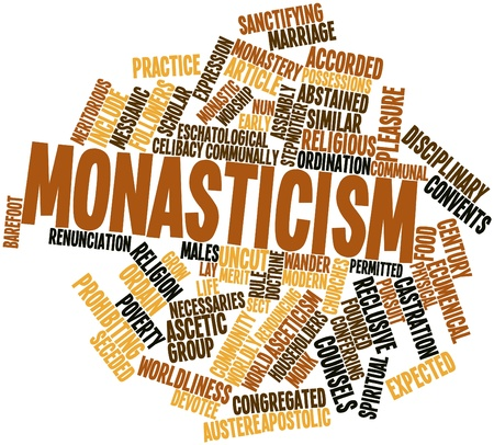 forbids: Abstract word cloud for Monasticism with related tags and terms