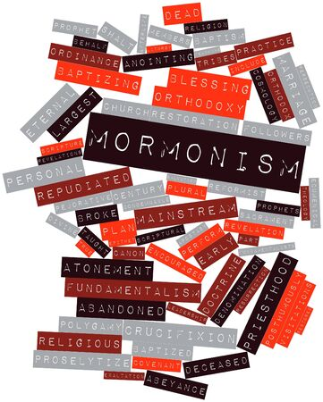 ordinance: Abstract word cloud for Mormonism with related tags and terms