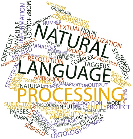 Abstract word cloud for Natural language processing with related tags and terms Stock Photo - 16633011