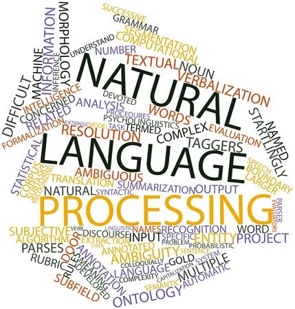 criterio: Word cloud astratto per l'elaborazione del linguaggio naturale con tag correlati e termini