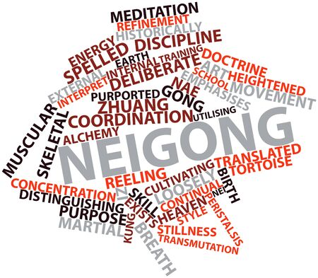 Abstract word cloud for Neigong with related tags and terms Stock Photo - 16631309