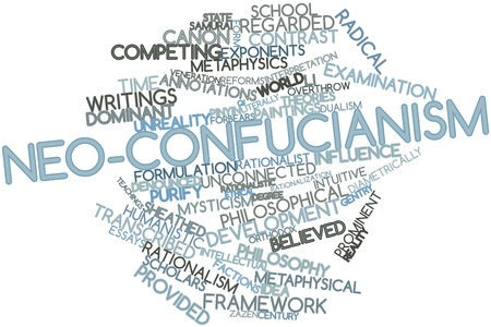 intuitive: Abstract word cloud for Neo-Confucianism with related tags and terms