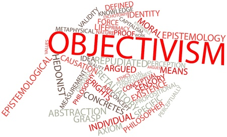epistemology: Abstract word cloud for Objectivism with related tags and terms