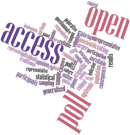 unreliable: Abstract word cloud for Open access poll with related tags and terms
