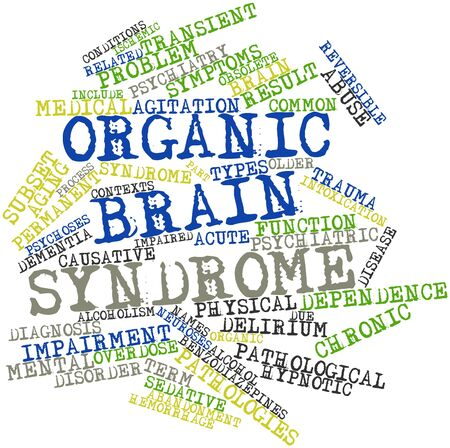 abandonment: Abstract word cloud for Organic brain syndrome with related tags and terms