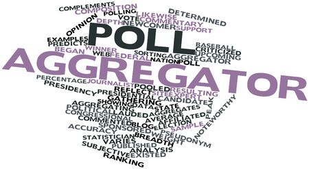 statistician: Abstract word cloud for Poll aggregator with related tags and terms