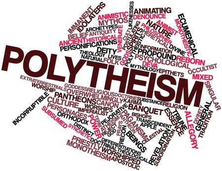 impersonal: Abstract word cloud for Polytheism with related tags and terms