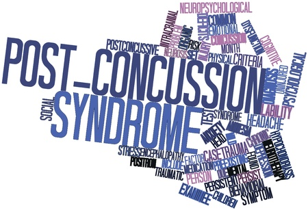 heterogeneity: Abstract word cloud for Post-concussion syndrome with related tags and terms