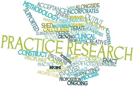 Abstract word cloud for Practice research with related tags and terms Stock Photo - 16631292