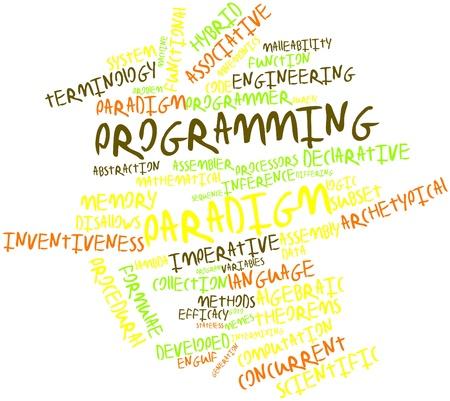 paradigma: Nube palabra abstracta para paradigma de programaci�n con las etiquetas y t�rminos relacionados