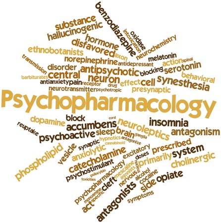 Abstract word cloud for Psychopharmacology with related tags and terms photo