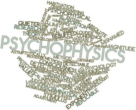 Abstract word cloud for Psychophysics with related tags and terms Stock Photo - 16632340