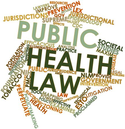 cdc: Abstract word cloud for Public health law with related tags and terms