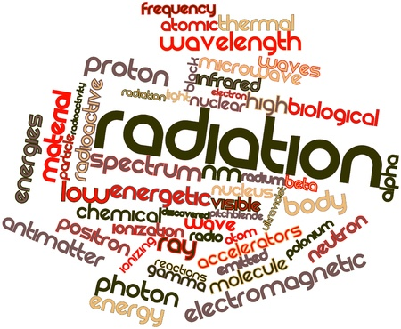 Abstract word cloud for Radiation with related tags and terms Stock Photo - 16631573