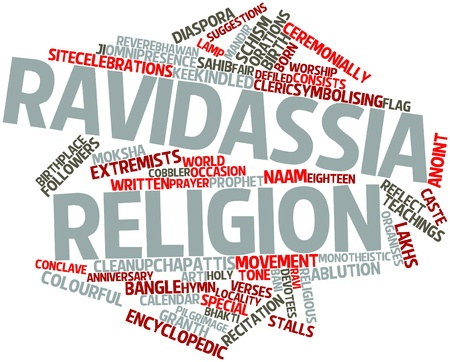 encyclopedic: Abstract word cloud for Ravidassia religion with related tags and terms
