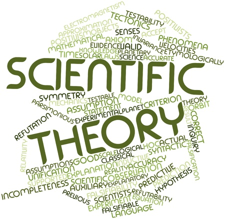 explanatory: Abstract word cloud for Scientific theory with related tags and terms