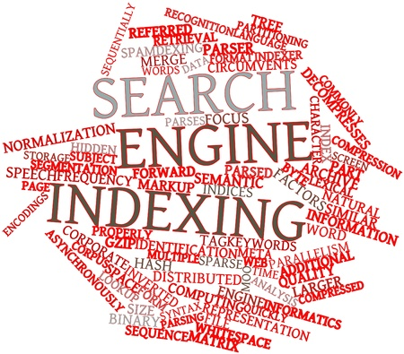 concordance: Abstract word cloud for Search engine indexing with related tags and terms Stock Photo