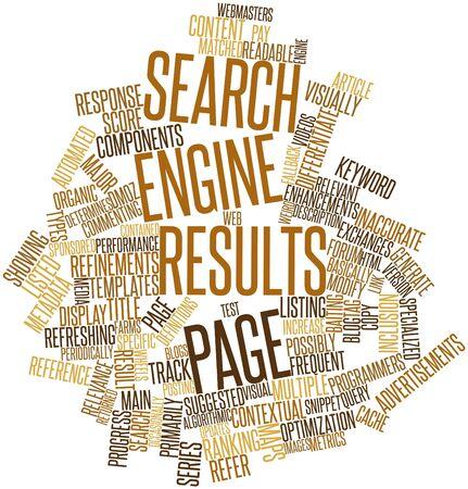 metadata: Word cloud astratto per Motore di ricerca pagina dei risultati con tag correlati e termini