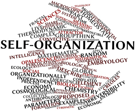 behaviour: Abstract word cloud for Self-organization with related tags and terms