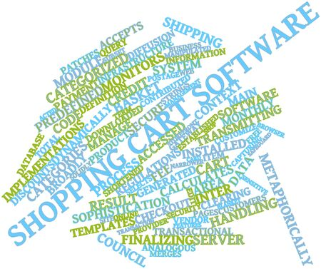 Abstract word cloud for Shopping cart software with related tags and terms Stock Photo - 16633092