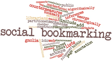 bookmarking: Abstract word cloud for Social bookmarking with related tags and terms