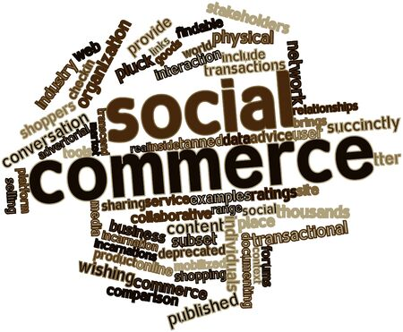 denote: Abstract word cloud for Social commerce with related tags and terms