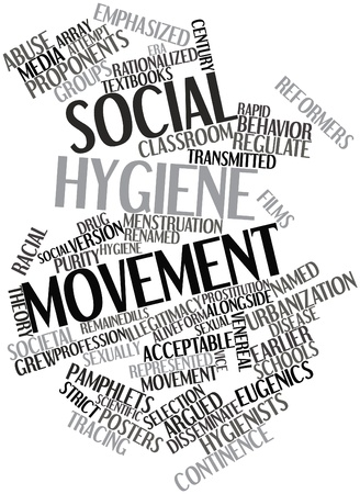 argued: Abstract word cloud for Social hygiene movement with related tags and terms