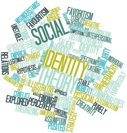 categorization: Abstract word cloud for Social identity theory with related tags and terms