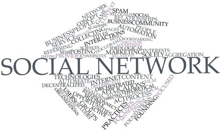 Abstract word cloud for Social network with related tags and terms Stock Photo - 16631023