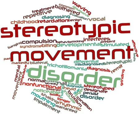stimulated: Abstract word cloud for Stereotypic movement disorder with related tags and terms