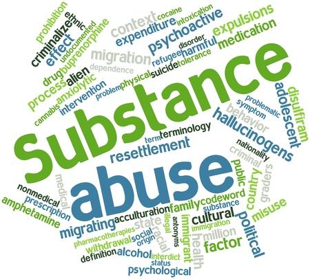 amphetamine: Nube palabra abstracta por abuso de sustancias con etiquetas y t�rminos relacionados