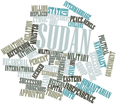 alleged: Abstract word cloud for Sudan with related tags and terms