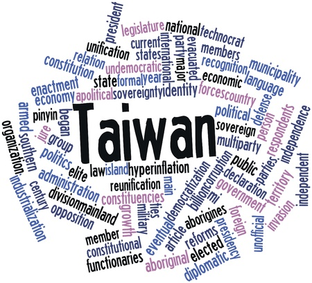 jure: Abstract word cloud for Taiwan with related tags and terms Stock Photo