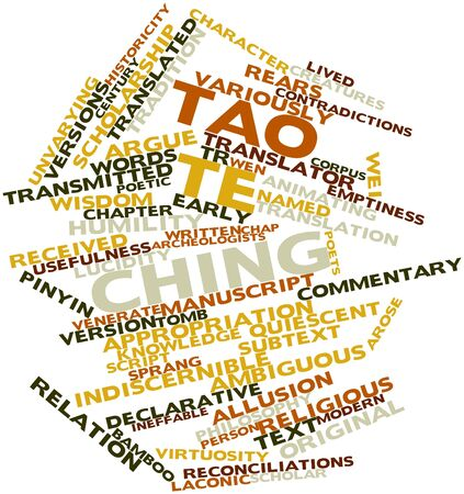 declarative: Word cloud astratto per Tao Te Ching con tag correlati e termini