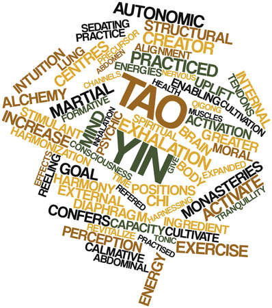 enabling: Abstract word cloud for Tao yin with related tags and terms Stock Photo