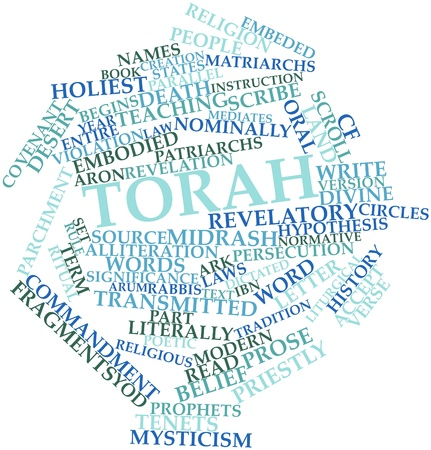 Abstract word cloud for Torah with related tags and terms Stock Photo - 16632470