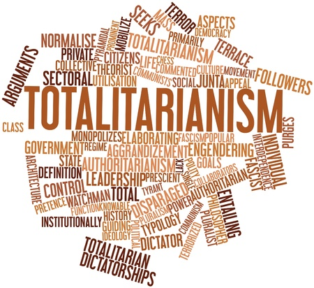 totalitarian: Abstract word cloud for Totalitarianism with related tags and terms