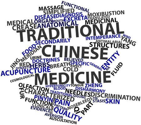 chinese medicine: Abstract word cloud for Traditional Chinese medicine with related tags and terms Stock Photo