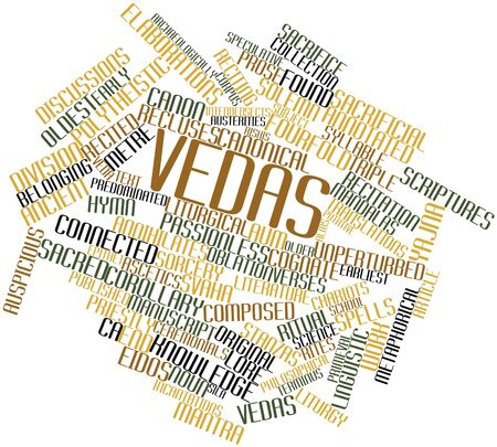recitation: Abstract word cloud for Vedas with related tags and terms Stock Photo