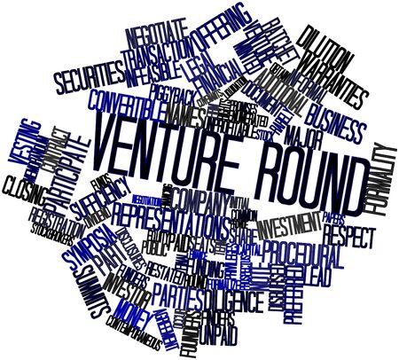 contemporaneous: Word cloud astratto per tutto l'Venture con tag correlati e termini