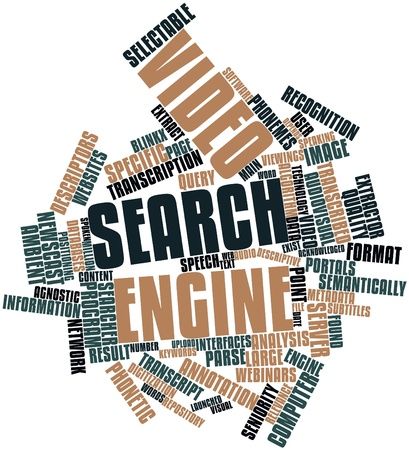 Abstract word cloud for Video search engine with related tags and terms Stock Photo - 16632170