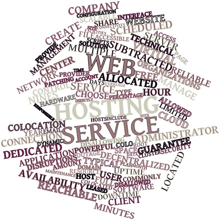colocation: Abstract word cloud for Web hosting service with related tags and terms