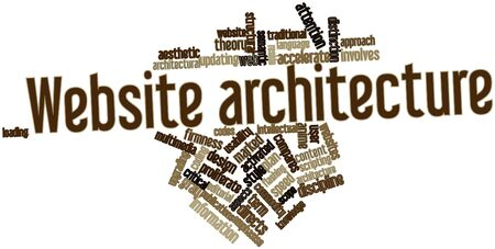 emphasise: Abstract word cloud for Website architecture with related tags and terms