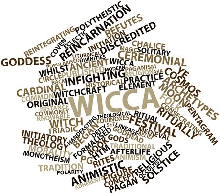 Abstract word cloud for Wicca with related tags and terms Stock Photo - 16632508