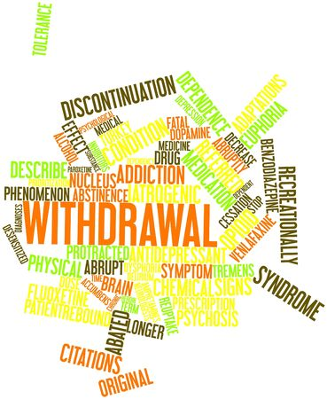 opioid: Abstract word cloud for Withdrawal with related tags and terms