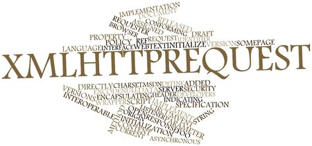 Abstract word cloud for XMLHttpRequest with related tags and terms Stock Photo - 16629792
